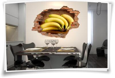 Wand-Tattoo Esszimmer Bananen Energie Kraft Balance