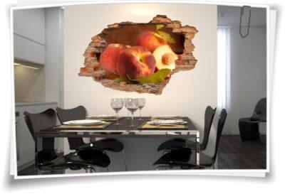 Wandbilder Wandaufkleber Küche Ess-zimmer Pfirsiche Obst