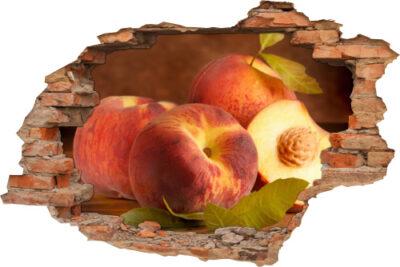 Wand-Tattoo-3D Küche Ess-zimmer Pfirsiche Obst