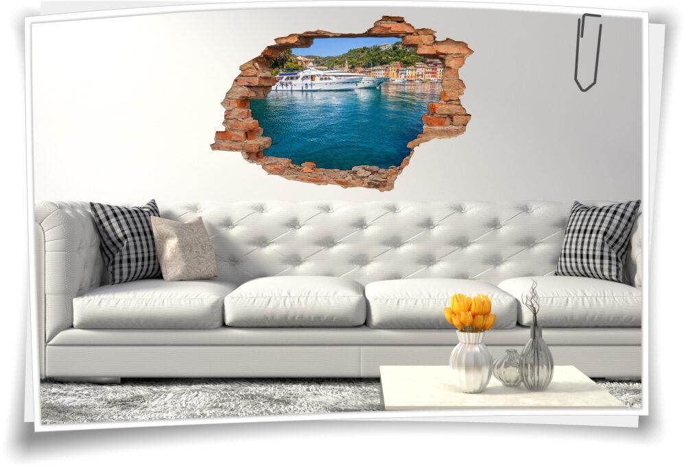 Wand-Tattoo-3D Wand-Aufkleber Yacht-Hafen-Residenz