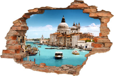 Wand-Bild Wand-Durchbruch Markus-Dom Gondel-Fest Venezia