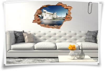 Wand-Aufkleber Wand-Bild Wand-Durchbruch Piazza-VeneziaStadt-Tour