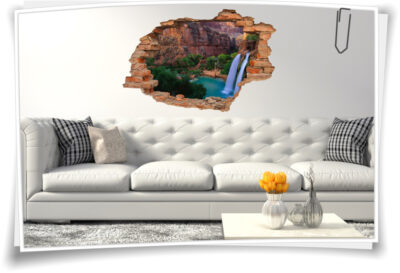 Wasser-Fall-Bilder Felsen Bucht See Grand-Canyon braun-grün