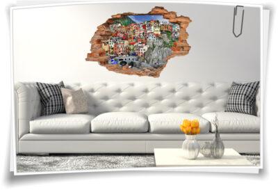 Wohnzimmer Deko italienische Riviera Wand-Bild-er