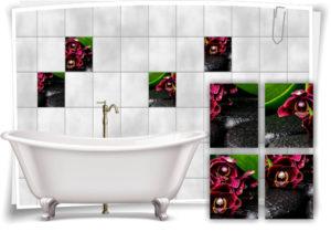 fliesen-aufkleber-fliesen-bild-orchideen-steine-wassertropfen-wellness-spa-rot-schwarz-deko-bad-wc