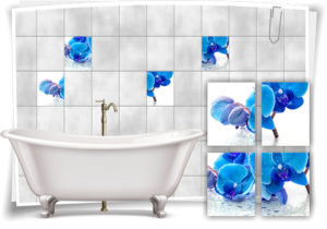 fliesen-aufkleber-fliesen-bild-orchideen-wassertropfen-blau-wellness-spa-deko-bad-wc