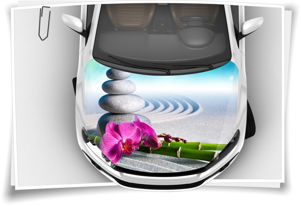 Orchidee Steine Spa Wellness Bambus Sand Motorhaube Auto Aufkleber Steinschlag Schutz Folie Airbrush Tuning