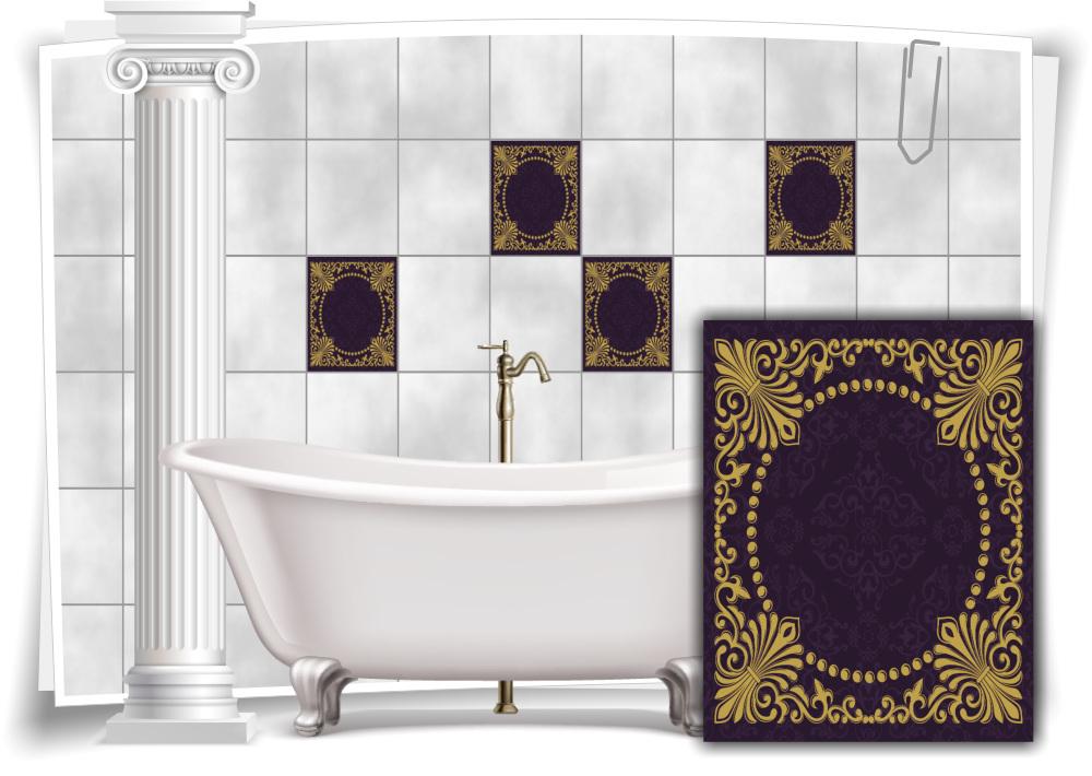 fliesen aufkleber fliesen bild kachel vintage nostalgie. Black Bedroom Furniture Sets. Home Design Ideas