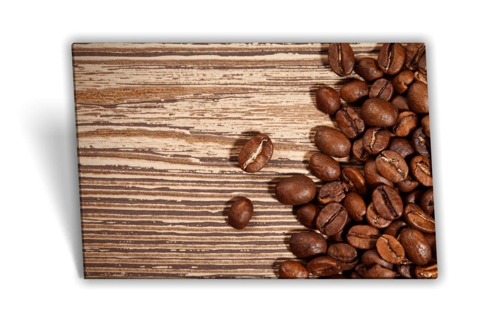 Leinwand-Bild Keilrahmen-Bild Kaffee-Bohnen Tasse Morgen Frühstück Küche  Kaffee-Mühle