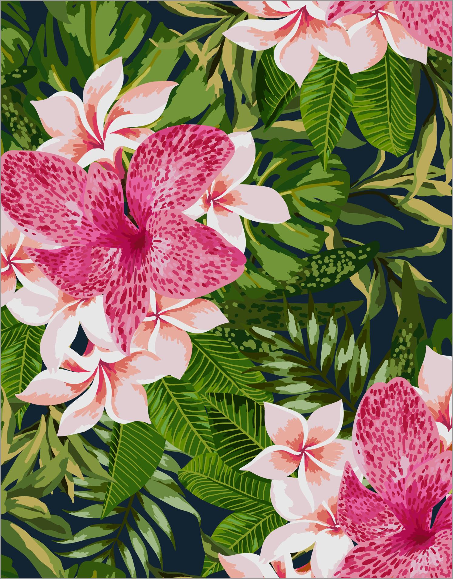 Fliesen Aufkleber Fliesen Bild Blumen Blüten Blätter Grün
