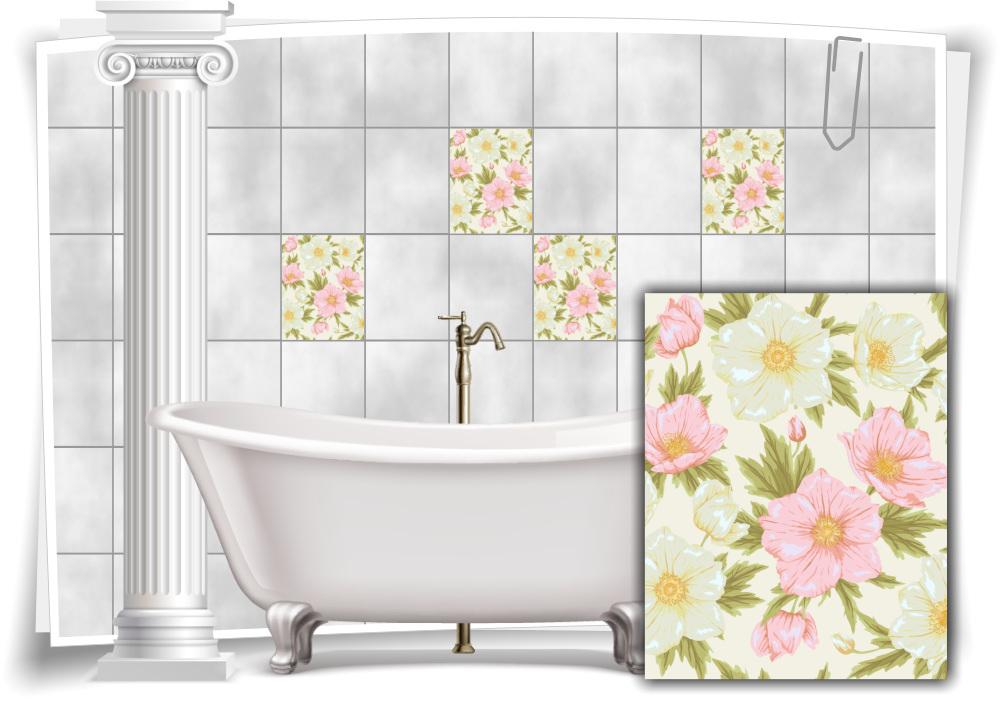 Fliesenaufkleber Fliesenbild Fliesen Aufkleber Sticker Badezimmer Bad Küche Deko
