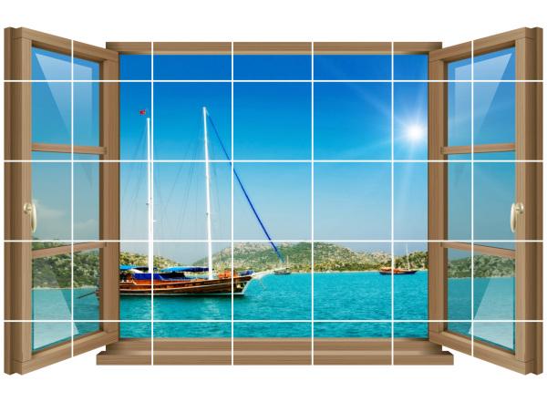 Vosarea 3D Sea Life Wandaufkleber Schildkr/öte U Boot Fenster Fliesenaufkleber Unterwasser Welt Fliesensticker Maritim Wandtattoo Bullauge Deko f/ür WC Bade Wohnzimmer Schlafzimmer